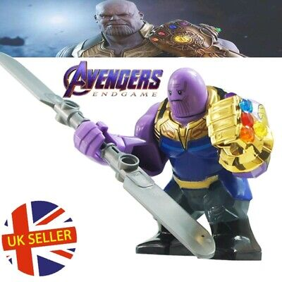 Thanos End Game Figure Double Sword Lego Fit Gauntlet Avengers Iron UK Seller