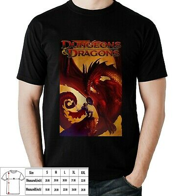 Dungeon And Dragon D&D fantasy T-shirt For Mens USA Size S,M,L,XL,2XL