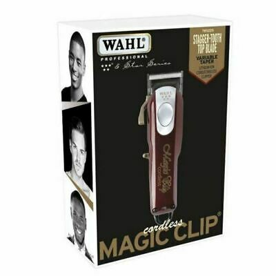 New Wahl Cordless Magic Clip #8148 FADE Clipper 110-220 Volts 50/60 Hz