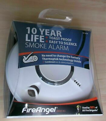 FireAngel St-620 Fastest Reacting Thermoptek Smoke Alarm toast proof 10 year