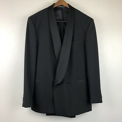 Men's Vito Rufolo Suit Jacket Pants Double Breasted Tuxedo Wool Size L/XL