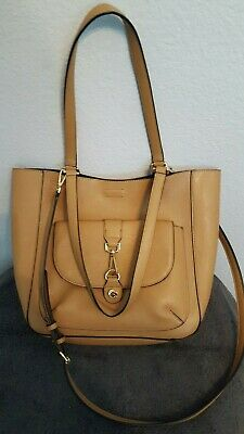4b8b2e3a455 CALVIN KLEIN UNLINED Tote, Wheat/Black Color Block Purse Brand New ...