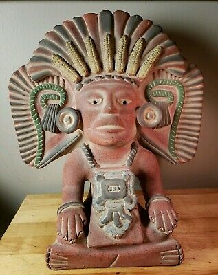 Vintage PreColumbian Burial Urn - Cocijo Zapotec Terracotta Reproduction Amazing