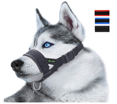 Nylon Soft Dog Muzzle Anti Bite, Barking, and Chewing Durable Adjustable Loop