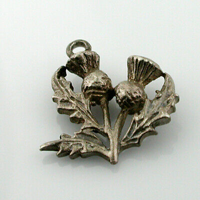 Scottish Thistle Sterling Silver Vintage Charm- Scotland
