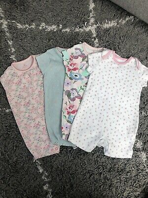 NEXT BABY Girl rompers X4 Age 6-9months - NEW