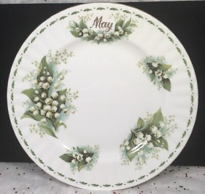Royal Albert China Lily of the Valley Flower of the Month May Salad lunch Plate