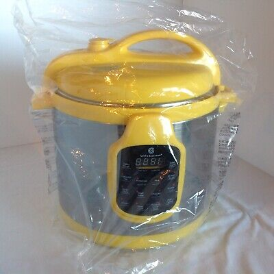 Cook's Essential Electric Multi Function Digital Pressure Cooker 6 Qt Yellow NEW