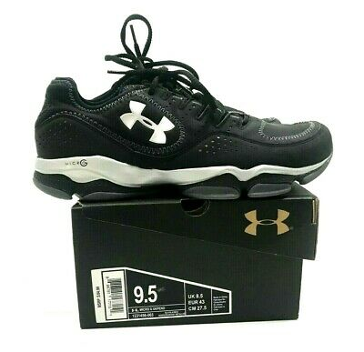 191503a34fd UNDER ARMOUR MENS MICRO G DEFEND TRAINING SHOES Black/GRAY/WHITE SZ 9.5 NEW