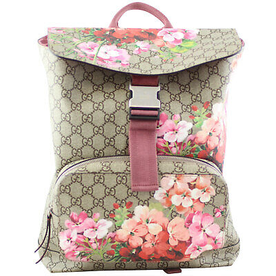 d7160a635637 Authentic Gucci GG Supreme Blooms Backpack Small Bag - RRP new $2000