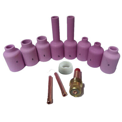 TIG Gas Lens Collet Body Kit WP 17 18 26 TIG Welding Torch 12pcs