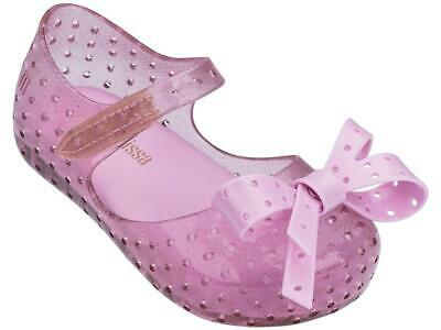 Genuine Mini Melissa Campana Zig Zag shoes Pink Candy Glitter size 5-10 toddler