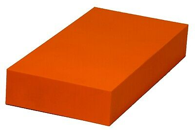 "Plastic Block HDPE  - 2"" x 6"" x 6"" for Machining - Orange"