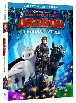 How to Train Your Dragon: The HIdden World (Blu-Ray+DVD+Digital) NEW WITH SLIP