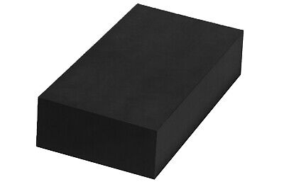"Plastic Block HDPE  - 2"" x 6"" x 6"" for Machining - Black"