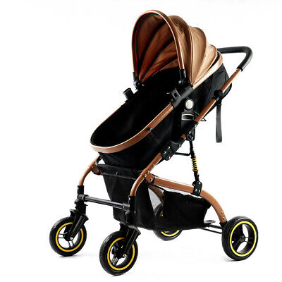 NEW 2 in 1 Baby Travel Pram Newborn Buggy Pushchair Folding Unisex 4 Big Wheels