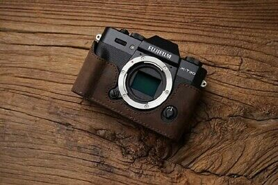 Genuine Real Leather Half Camera Case Bag Cover for FUJIFILM X-T30 X-T20 X-T10 D