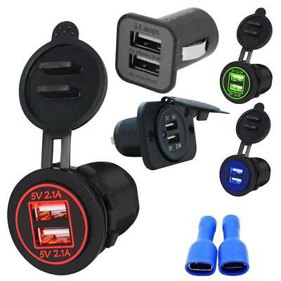 Universal QC Dual 2 Port USB 3.1A 12V Car Socket Cigarette Lighter Adapter AC
