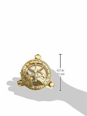3 Inch Handicraft Solid Brass sundial Compass With Inlay Work Wooden Hard Box