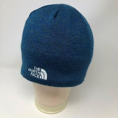 NEW The North Face Blue Beanie Hat TNF Logo Adult OS