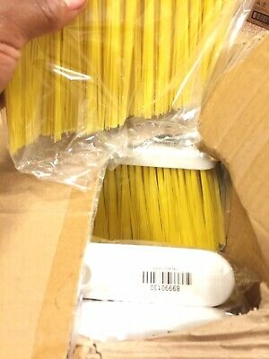 """Ecolab 5"""" Yellow Flagged Lobby Broom Head Only #89990130"""