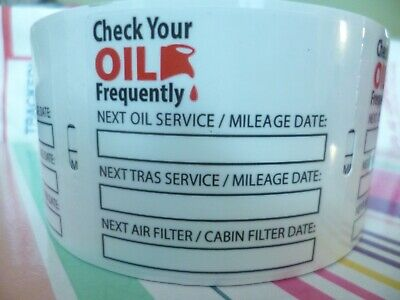75 Oil Change Clear Static Cling Reminder Stickers🔥Decals +2 😲FREE Fast Ship😍