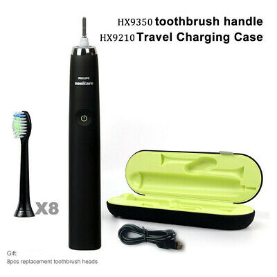 Philips sonicare DiamondClean toothbrush HX9350 black travel kit+OEM Brush Head