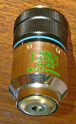 Carl Zeiss microscope Plan 40x objective lens 0.60 Ph2 adjustment collar Korr