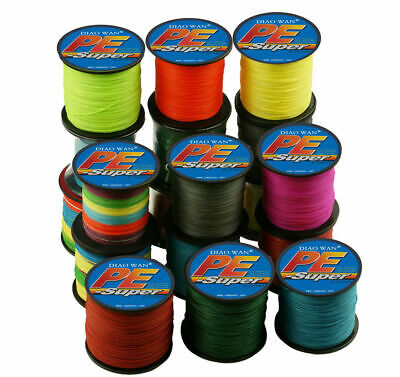 9 Color 8 Strand 100-1000M 12-300LB Super Strong PE Spectra Braided Fishing Line