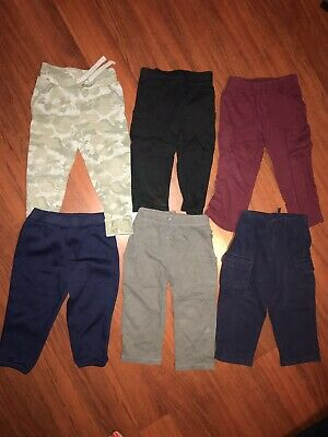 3295dd83f Boys 24 Months Pants Lot 6 Pairs Camo Old Navy Jumping Bean Carters Jogging