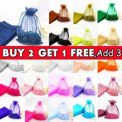 25/50 Organza Wedding Party Favour Gift Candy Bags Jewellery Pouch Large Small O