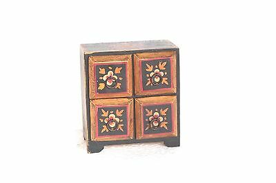 Small Drawer Chest New Handpainted Handicrafts Home Decor W-3