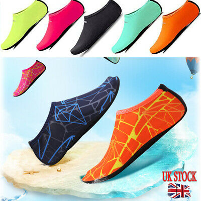 UK Women Men Water Shoes Aqua Diving Socks Wetsuit Swim Beach Yoga Gym Non-Slip
