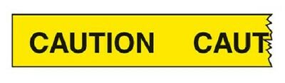 Brady ECONOMY BARRICADE TAPE 150mx75mm Imprinted With CAUTION Yellow*AUS Brand