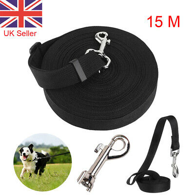 50ft 15M Dog Puppy Pet Training Lead Harness Long Line Collar Extending Leash HQ