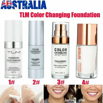 TLM Flawless Color Changing Foundation Makeup Base Face Liquid Cover Concealer #