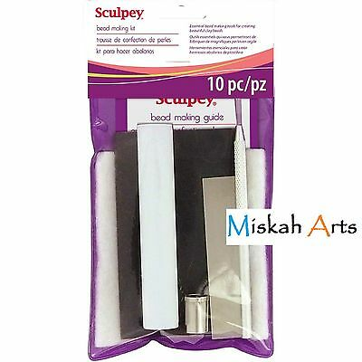 SCULPEY BEAD MAKING STARTER KIT - 10 Pieces