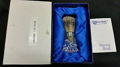 Nib Waterford Crystal Shaving Brush~Badger Hair~Paperwork~Ireland~Excellent