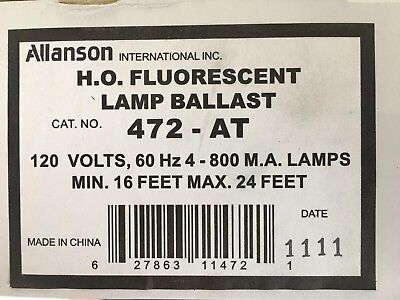 ALLANSON ELECTRIC SIGN Ballast Repair Part 272-AT 277v 1 or ... on