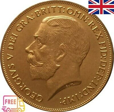 1911 GEORGE V Coin two pound gold color United Kingdom (copy)