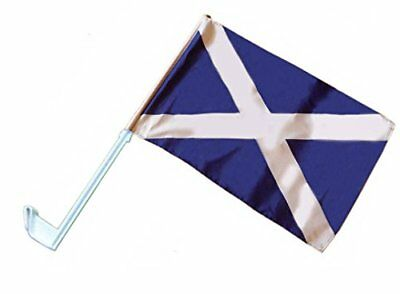 Scotland St Andrews Cross Scottish Saltire Supporter's Car Flag 17 x 11 inches
