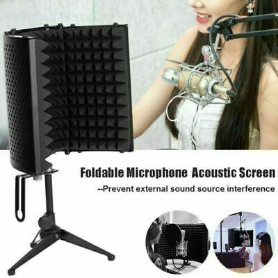 Studio Microphone Shield Isolation Screen Reflection Filter Portable Vocal Booth