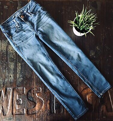 58e5dcd5ddf97 AEO AMERICAN EAGLE Jegging Ankle Skinny Jeans Super Stretch Women's 00 EUC