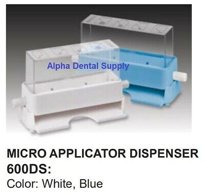 Plasdent Dental Micro Applicators Dispenser Holder Plastic White or Blue