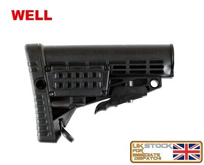 MP5 SERIES FIXED BUTTSTOCK TACTICAL AIRSOFT STOCK BLACK BUTT ASG FBP4006
