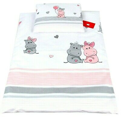 LUXURY 2 PIECES NURSERY - BABY BEDDING SET--PILLOW & QUILT COVERS to fit COT