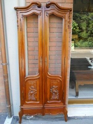 Antique Liberty wall Library (door with front) in Walnut - 19th century