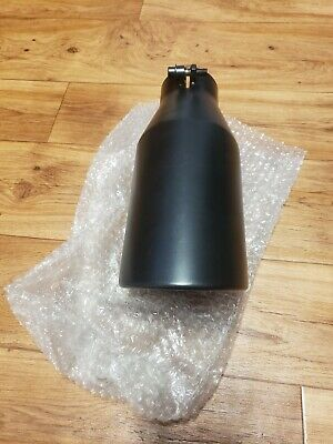 Bolt-On Exhaust Tip Single Wall 4 In 6 Out 233119 Truck Angled Black 12in