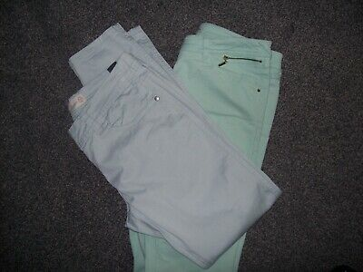 Two Lovely Pairs Of Light Weight Cotton Jeans..size 12..Rivr Island And Next