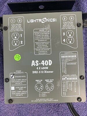 Lightronics AS-40D  4x600 Watts DMX-512 Dimmer